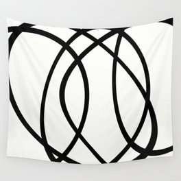 Community - Black and white abstract Wall Tapestry