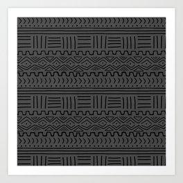 Mud Cloth on Linen Art Print