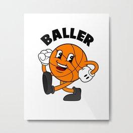 Baller Metal Print