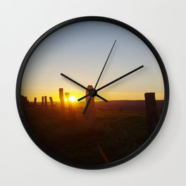 Walk in the evening Wall Clock