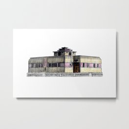 GALLERY SQUARE CHALET Metal Print