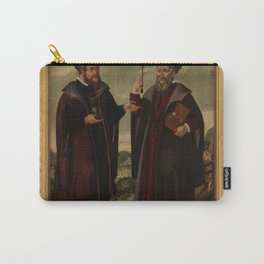SS. Cosmas and Damian in a landscape. Oil painting, 17th c. v Carry-All Pouch