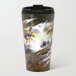 Female Flowers Metal Travel Mug