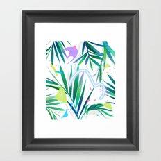 summer motel pattern Framed Art Print