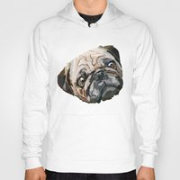 pug Hoodies featuring pug by Ancello