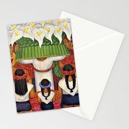 Flower Festival No. 2 - Feast of Santa Anita by Diego Rivera Stationery Cards