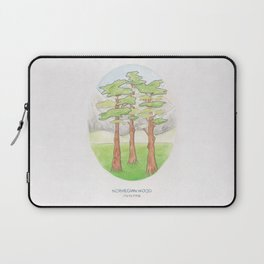 Haruki Murakami's Norwegian Wood // Illustration of a Forest and Mountains in Pencil Laptop Sleeve