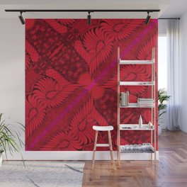 Diagonal Abstract Psychedelic Doodle 8 Wall Mural