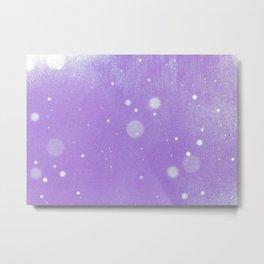 Vintage snow and purple sky Metal Print
