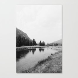 layers of the land iv - yellowstone Canvas Print