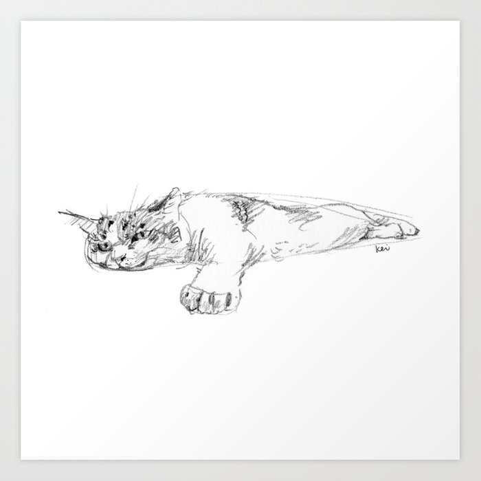 cat 015 Art Print
