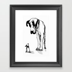 Great Dane & Chihuahua Framed Art Print