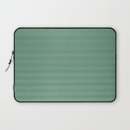 Vintage chic green geometrical stripes pattern Laptop Sleeve