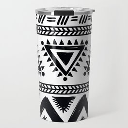 Tribal black and white Travel Mug