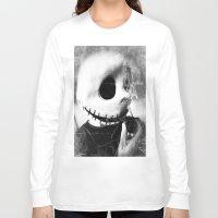 jack skellington Long Sleeve T-shirts featuring smoking jack skellington by Joedunnz