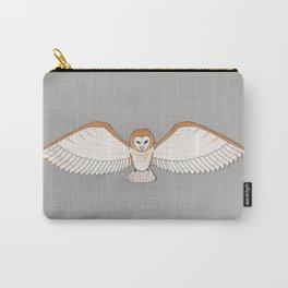 Barn Owl in Grey Carry-All Pouch