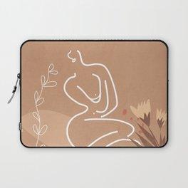 Woman in Nature Illustration Laptop Sleeve