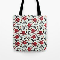 peggy carter Tote Bags featuring Peggy Carter Pattern by HayPaige