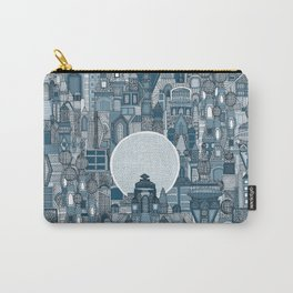 space city mono blue Carry-All Pouch