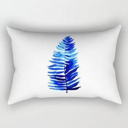 Fern in Blue Rectangular Pillow