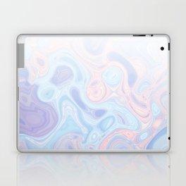 Liquid Pastel Marble Ombre 1. lilac, nude and aqua #pastelvibes #homedecor #buyart Laptop & iPad Skin