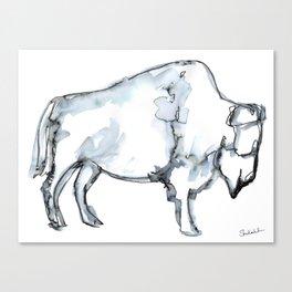 Buffalo, Watercolor Canvas Print