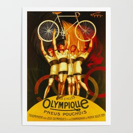 Vintage Olympique Bicycle Ad Poster