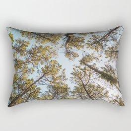 Pine forest at sunset Rectangular Pillow