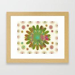 Gold flower pattern Framed Art Print