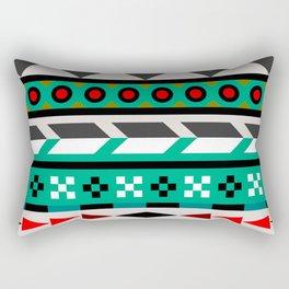 Geometric Aztec Pattern Rectangular Pillow