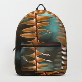 Autumn Ferns in Orange and Blue Backpack