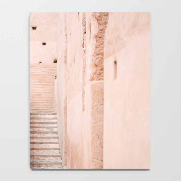 Colors of Marrakech Morocco - El badi palace photo print | Pastel travel photography art Notebook