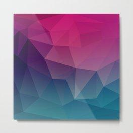 Geometric Pink and Bllue Metal Print