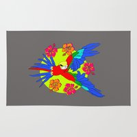 parrot Area & Throw Rugs featuring Parrot by lescapricesdefilles