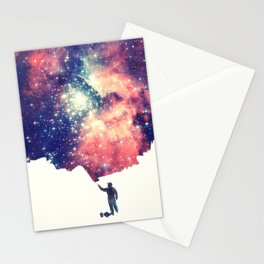 Painting the universe (Colorful Negative Space Art) Stationery Cards