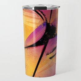 B--Abstract Travel Mug