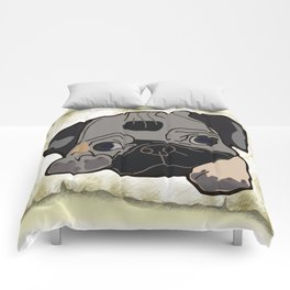 beautiful dog Comforters