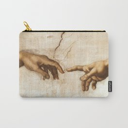 Michelangelo Creation of Adam Hands Carry-All Pouch