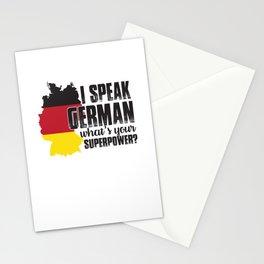 i speak german what superpower i speak german Stationery Cards