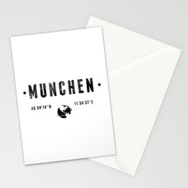 München geographic coordinates Stationery Cards