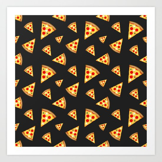 Cool and fun pizza slices pattern Art Print