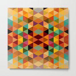 Middle Triangles Metal Print