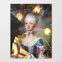 marie antoinette Canvas Prints featuring Marie Antoinette by Ampersand Artworks (Ornery Owl Arts)
