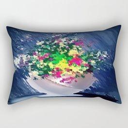 Ton und Blumen. Stilleben. Rectangular Pillow