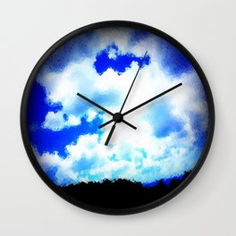 Cloven Skies Wall Clock