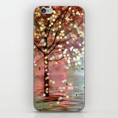 Surreal Fantasy Fairy Tale Aqua Pink Sparkling Fairylights Nature Trees iPhone & iPod Skin