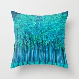 Moonlit Palms Florida Throw Pillow