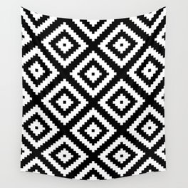 Tribal B&W Wall Tapestry
