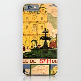 retro iconic Ville de St Huber poster iPhone Case