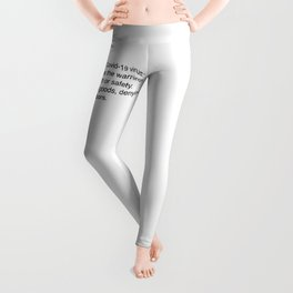 Covidiot - Stupid people Leggings